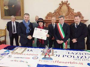 2018 (Marche). Gemellaggio con il Carnevale di Fano alla presenza del Sindaco e del Presidente del Carnevale di Fano
