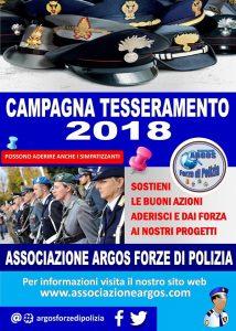 Campagna Tesseramento ARGOS 2018