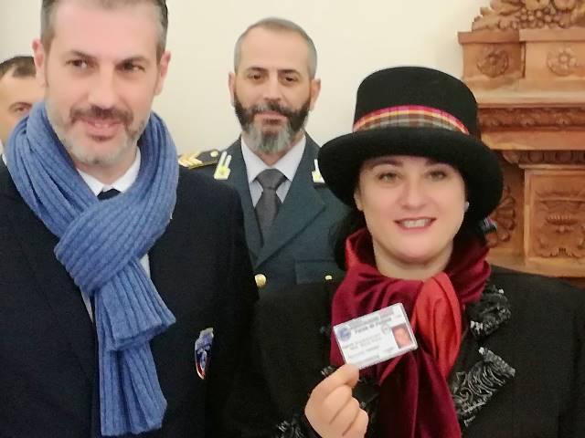 Maria Flora Giammarioli (Presidente del Carnevale di Fano), socio onorario Associazione ARGOS Forze di Polizia