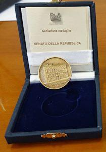 Medaglia di Bronzo Senato della Repubblica concessa all'Associazione ARGOS Forze di Polizia