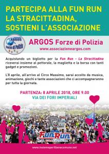 Maratona di Roma 2018, adesione ARGOS Associazione Forze di Polizia alla Fun Run, La Stracittadina