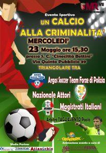 Un Calcio alla Criminalità, evento di calcio spettacolo per attività sociale