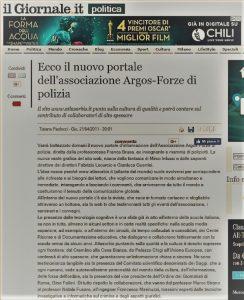 Il Giornale - Ecco il nuovo Portale dell'Associazione ARGOS Forze di POLIZIA