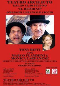 """""""Il Ritorno"""", omaggio a Franco e Ciccio Teatro Arciliuto dal 20 al 30 giugno 2018"""