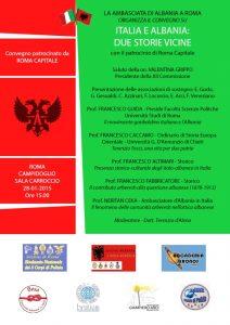 Italia e Albania Due Storie Vicine , convegno promosso dall'Accademia Terenzio Tocci e Associazione ARGOS Forze di POLIZIA