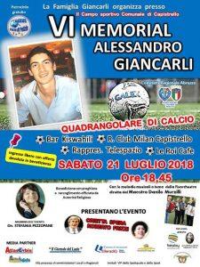 VI° Memorial Alessandro Giancarli, 21 luglio 2018, Capistrello (Aquila-Abruzzo)