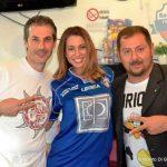 ARGOS Soccer TEAM Forze di POLIZIA, Gianluca Guerrisi e Fausto Zilli con l'attrice Martina Menichini