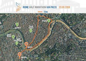 La Mappa della 5 Km Run for Peace Via Pacis