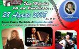 Una Melodia Per Non Dimenticare, a Capistrello (Aq) il Maestro Danilo Murzilli in concerto per onorare le vittime del terremoto della regione Abruzzo, patrocinio ARGOS Associazione Forze di POLIZIA