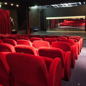Particolare dell'interno del Teatro Brancaccino a Roma