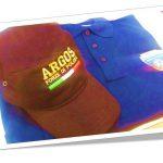 Gadget ARGOS Associazione Forze di POLIZIA. Cappellino tipo baseball e Polo a mezza manica con doppi ricami a filo a colori