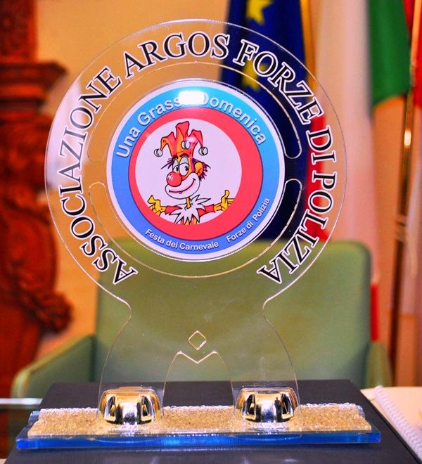Targa Una Grassa Domenica Festa del Carnevale delle Forze di Polizia- ARGOS Associazione