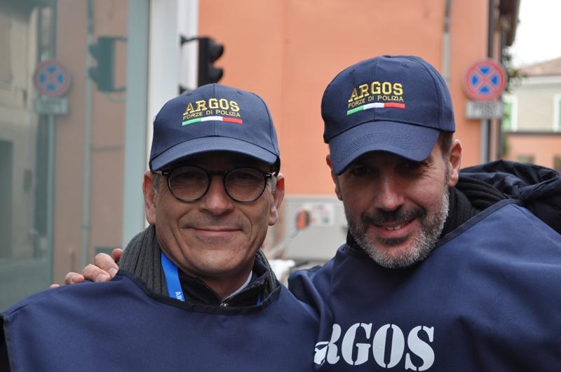 FANO - Pesaro Urbino - Marche. La delegazione ARGOS Associazione Forze di Polizia al Gemellaggio Una Grassa Domenica e Carnevale di Fano