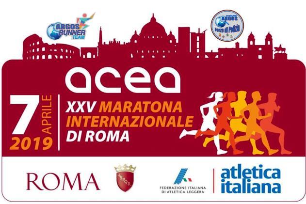 Maratona Internazionale di Roma XXXV edizione - Stracittadina - 7 Aprile 2019 - ARGOS Runner TEAM Forze di Polizia