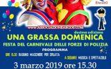 Impara da Bambino il Rispetto delle Regole: decima edizione di Una Grassa Domenica Festa del Carnevale delle Forze di Polizia