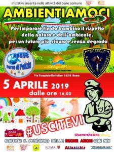 AMBIENTIAMOCI: laboratori sicurezza ambientale per bambini, venerdì 5 Aprile 2019 ARGOS Associazione Forze di Polizia