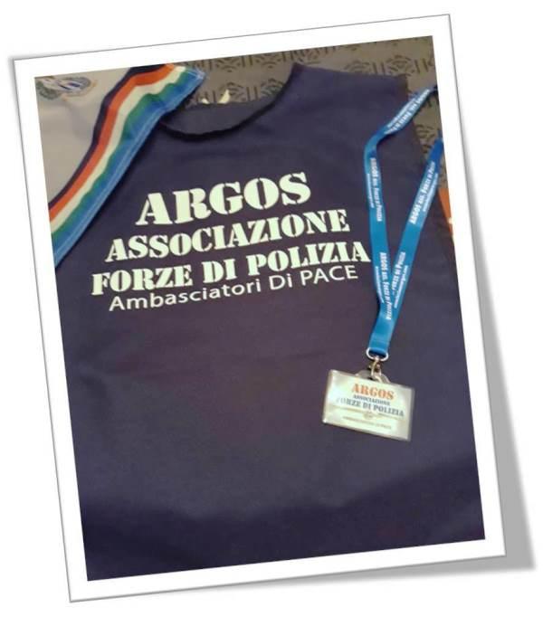 """Corpetto di Rappresentanza ARGOS Associazione Forze di Polizia con indicazione """"Ambasciatori di Pace"""""""