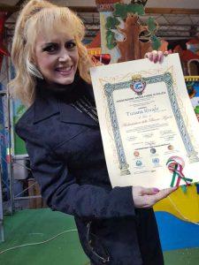 Tiziana RIVALE Ambasciatrice delle Buone Azioni con decreto ARGOS Associazione Forze di Polizia