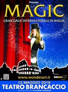 MAGIC Gran Galà Internazionale di Magia del 12 Maggio 2019 al Teatro Brancaccio