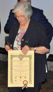 Avezzano: la Vice Presidente Nazionale della Croce Rossa Italiana dott.ssa LETTA, con il certificato di Ambasciatore delle Buone Azioni, decretato dall'Associazione ARGOS Forze di POLIZIA