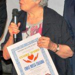 """Diploma di Merito """"un CUORE d'ORO"""" 2019 per la dott.ssa Maria Teresa Letta, Vice Presidente Nazionale - Croce Rossa Italiana"""