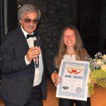 """Diploma di Merito """"un CUORE d'ORO"""" 2019 per la giovane cantante Arianna Lavacchielli"""