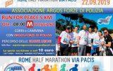 Corri e Cammina con ARGOS Associazione Forze di POLIZIA  alla III^ edizione della Rome Half Marathon Via Pacis, per sostenere integrazione, inclusione, pace e solidarietà. Riprese e servizio RAI Sport