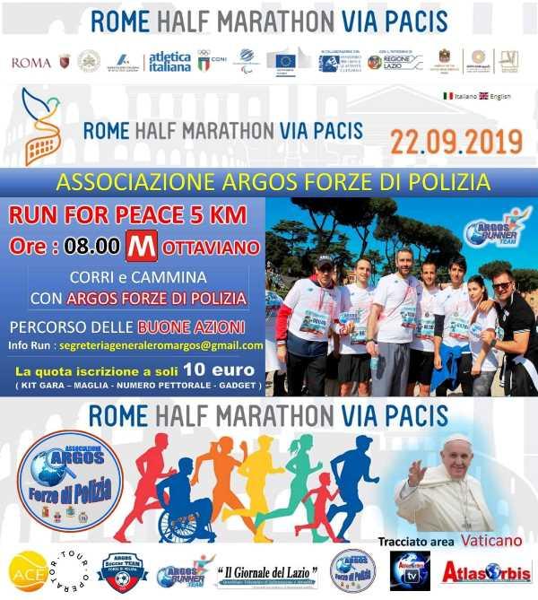 III^ edizione della Rome Half Marathon Via Pacis - Run for Peace