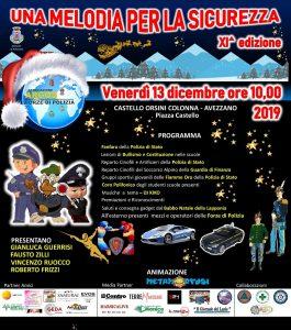 Una Melodia per la Sicurezza XI edizione - Avezzano - Castello Orsini Colonna - Venerdì 13 dicembre 2019 ore 10.00