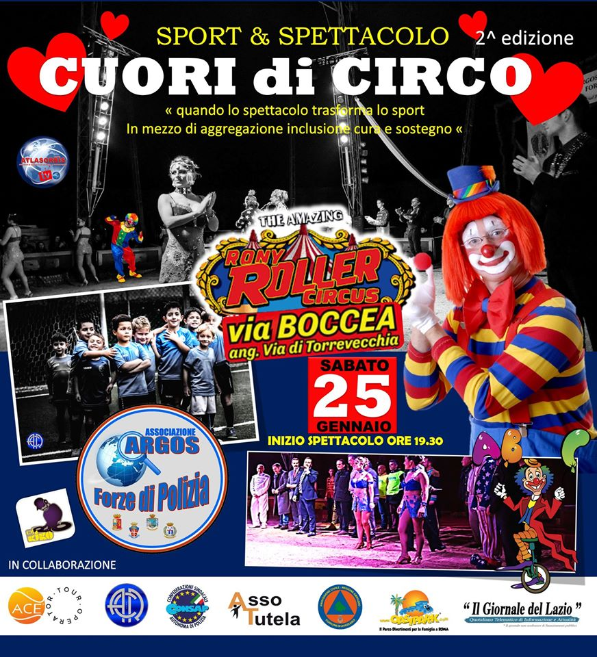 CUORI di CIRCO II edizione - Sabato 25 Gennaio 2020 - Roma - Rony Roller Circus