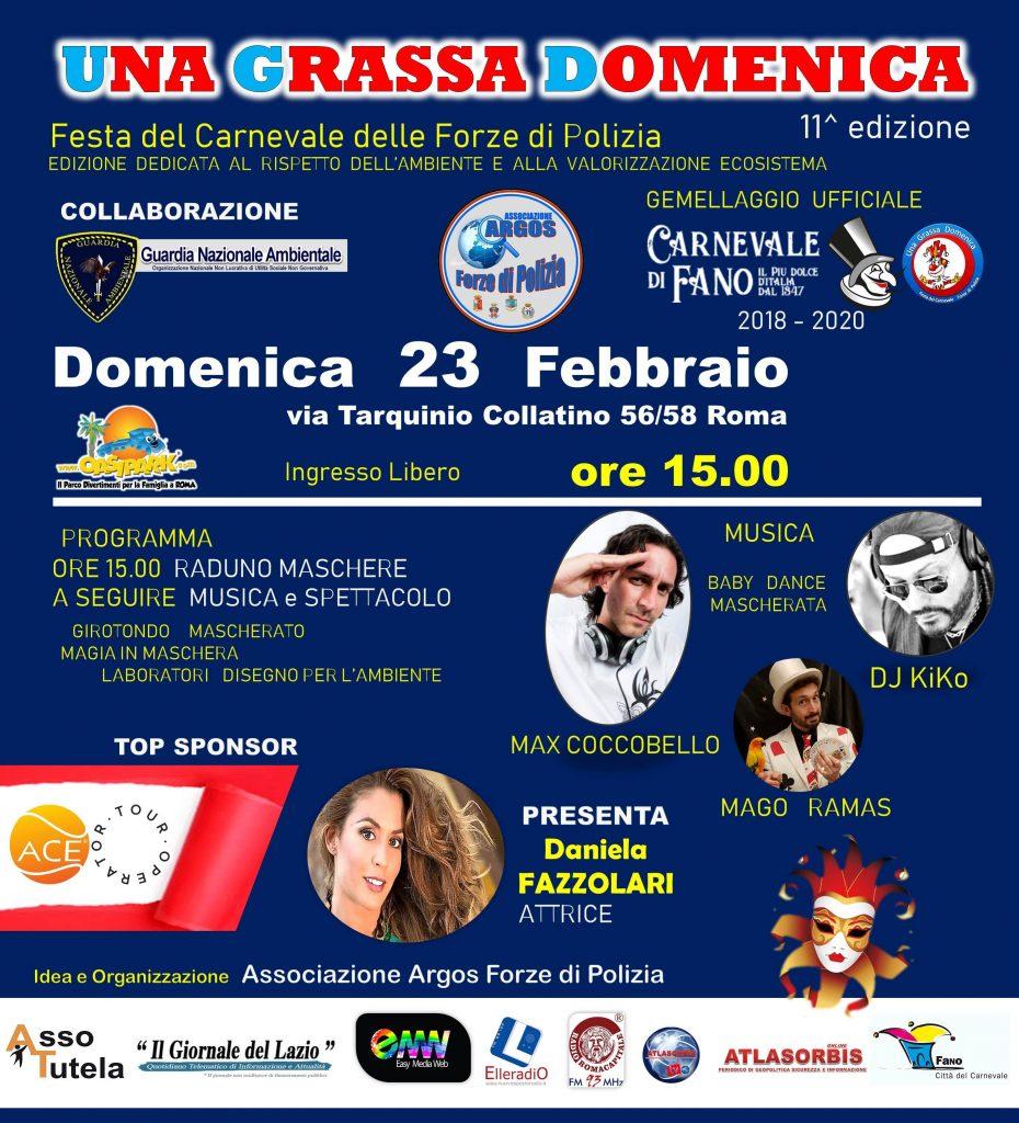 UNA GRASSA DOMENICA - FESTA DEL CARNEVALE 11ma EDIZIONE - 23 Febbraio 2020