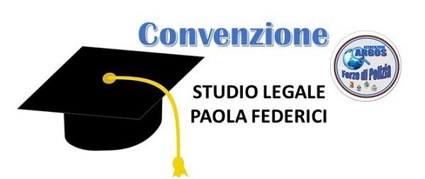 Convenzione Studio Legale Paola Federici - ARGOS Forze di Polizia