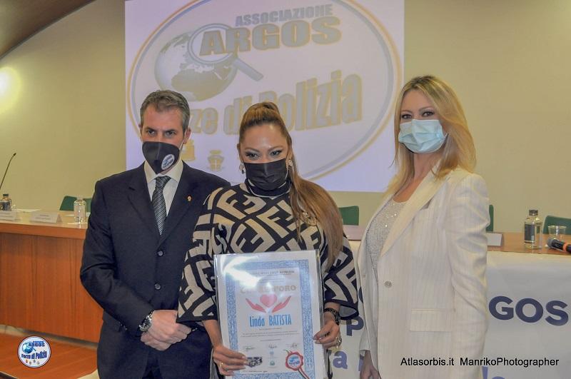 Linda Batista - Cuore d'Oro 2021 nomina ARGOS Associazione Forze di POLIZIA
