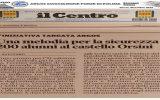 Rassegna Stampa Abruzzo ARGOS - IL CENTRO Avezzano del 12 dicembre 2019