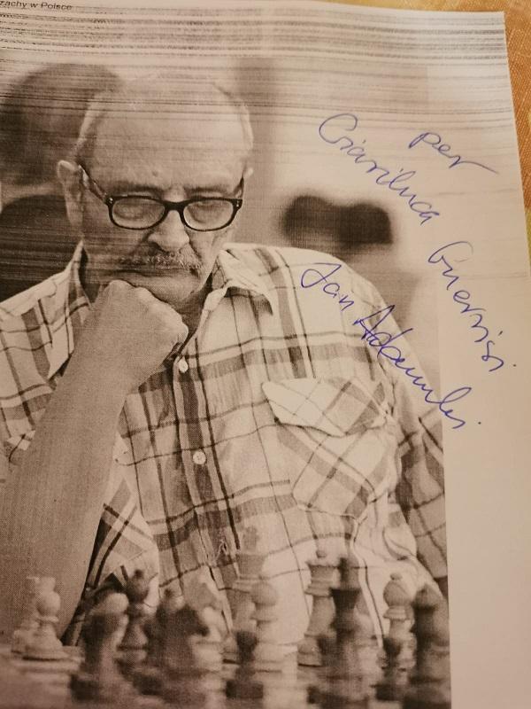 Jan Adamski -Campione di Scacchi in Polonia 1982 - Autografo a Gianluca GUERRISI
