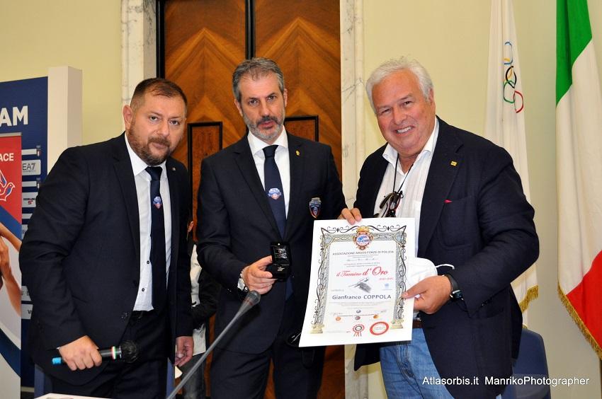 Taccuino d'ORO - ARGOS Forze di POLIZIA - Gianfranco COPPOLA Presidente USSI - Unione Stampa Sportiva Italiana