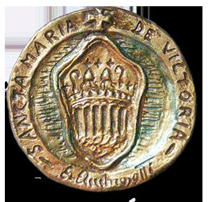 """Sigillo Abbaziale""""Santa Maria della Vittoria"""" - Retro -"""