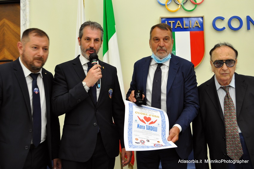 """Marco TARDELLI. Diploma di Merito """"CUORE d'ORO"""" 2021. Albo Nazionale ARGOS Associazione Forze di POLIZIA"""
