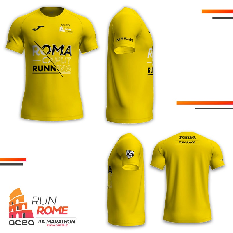 Maglia Maratona di Roma 2021 - ARGOS Runner TEAM Forze di POLIZIA